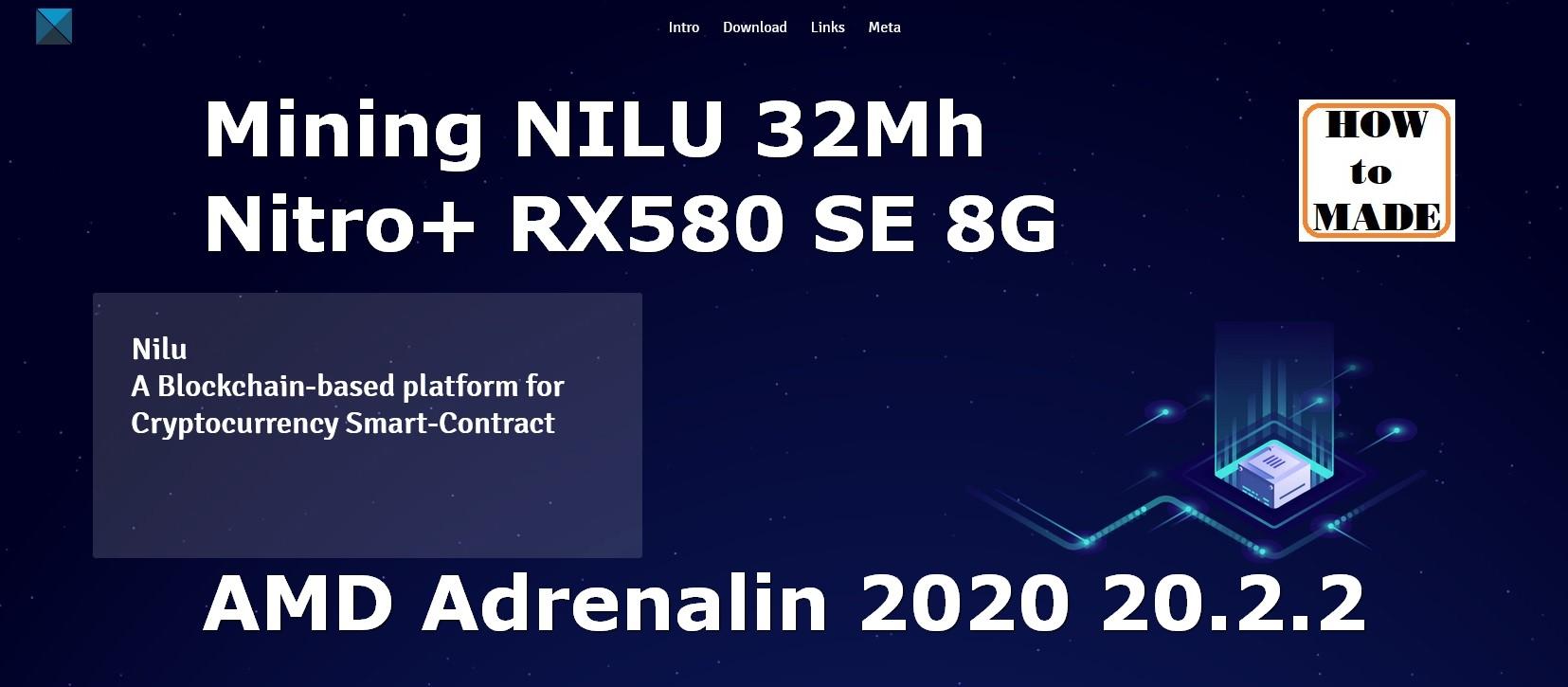 Mining NILU coin with AMD RX580 8G